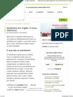 Advérbios em inglês O Guia Definitivo - English Experts