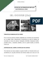 TEMA 0018 Caracteristicas de los Principales Metales que Produce el Peru