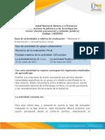 Guia de actividades y Rúbrica de evaluación – Momento 4 - Presentación y consideraciones éticas.