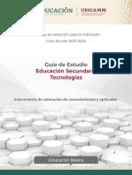 Admision Secundaria Tecnologias2021