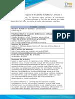 Matriz 1 - Ficha de Lectura Fase 2 Articulo 1