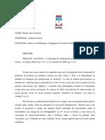 BLOCO - 1 DE FICHAMENTOS [SABERES METODOLOGIAS E LINGUAGEM DO ENSINO DE HISTÓRIA
