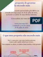 CLG-UFG - O que a proposta de 24-07-2012 não esconde mais
