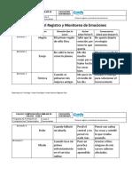 Ficha Para El Registro y Monitoreo de Emociones Def