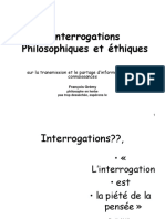 Interrogations Philosophiques et ethiques