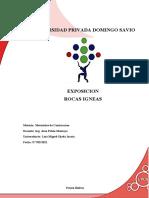 Rocas Igneas Informe