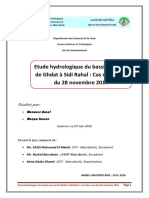 Etude Hydrologique Du Bassin Versant