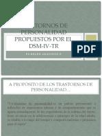 Trastornos de personalidad propuestos por el DSM-IV-TR