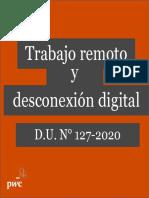 Trabajo remoto y desconexión digital DU 127-2020