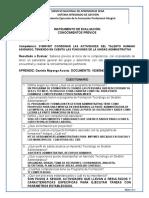 INSTRUMENTOS DE EVALUACION CONOCIMIENTOS PREVIOS COORDINAR