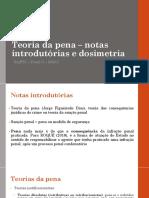 FTC - Teoria da pena – notas introdutórias e dosimetria