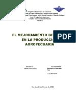 El Mejoramiento Genético en la Producción Agropecuaria