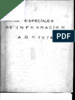 Partes Especiales de Información - año 1976