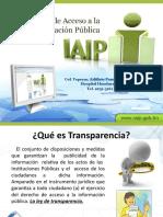PRESENTACION LEY DE TRANSPARENCIA    IAIP. corta (1)