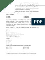 Lista de exercícios_Atomística, distribuição eletrônica e Ligações químicas