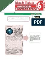 Concepto y Accidentes Gramaticales Del Sustantivo Para Sexto Grado de Primaria