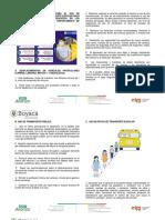 protocolo  de bioseguridad transporte escolar