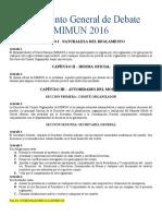 1 Reglamento General de Debate MIMUN 2016