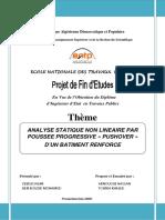 PFE_Analyse Statique Non Linéaire Par Poussée ...