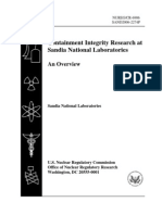 Reactor Containment Research - Nuclear Regulatory Commission Data