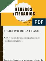 GÉNEROS LITERARIOS_SEMANA 26 abril