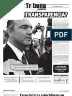 Tribuna de Querétaro 571. ¿Y la transparencia?