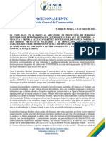 Posicionamiento CNDH 11 Mayo.