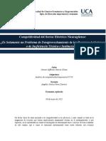 Competitividad del Sector Eléctrico Nicaragüenses
