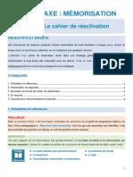 AFSC Fiches Peda Le Cahier de Reactivation