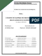 Politiques Depenses Publiques Mondialisation Algerie.doc
