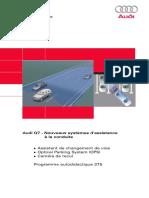 SSP 375 Audi Q7 - Nouveaux Systèmes d'Assistance à La Conduite
