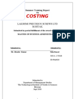 Project on costing