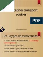 Tarification Routier