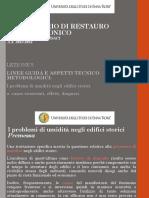 5. LABORATORIO DI RESTAURO ARCHITETTONICO