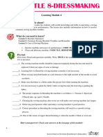 Module 4 - Dressmaking 8 Revised