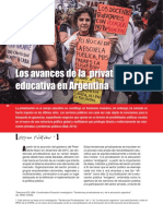 Feldfeber M - Los Avances de La Privatizacion Educativa en Argentina