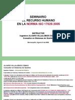 Seminario 17025 - Recursos Humanos [Alvaro Villalobos