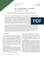 Complexidade em Astronomia e Astrofísica