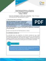 Guia de actividades y rúbrica de evaluación - Fase 5 - Evaluar una propuesta de Tele-Educación en salud