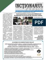 Ziarul Funcționarul public nr. 7 (596)