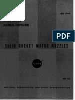 Solid rocket motor nozzles