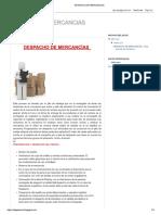 Despacho-Mercancia