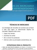 TECNICAS DE MERCADEO
