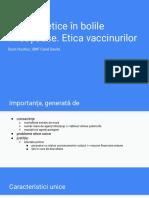 Aspecte etice în bolile infecțioase. Etica vaccinurilor