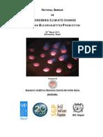 National Seminar on Addressing Climate Change through Bio-briquette Promotion 2011