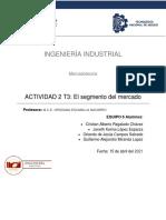 ACTIVIDAD 2 T3  EL SEGMENTO DEL MERCADO