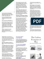 The Carbon Footprint of War