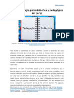 CLASE 01 - Metodología Psicodidáctica y Pedagógica Del Curso