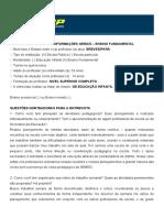 ROTEIRO DE ENTREVISTA INFORMAÇÕES GERAIS - ENSINP FUNDAMENTAL