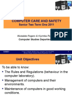Computer Care and Safety